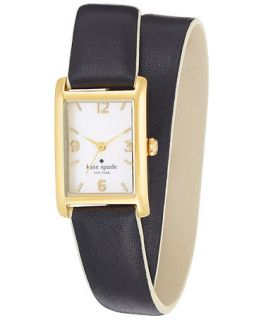 kate spade new york Watch, Womens Cooper Black Double Wrap Leather Strap 32x21mm 1YRU0247   Watches   Jewelry & Watches