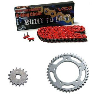 2006 2010 Suzuki GSXR 750 Red O Ring Chain and Sprocket Kit Automotive