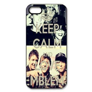 "Band ""Emblem3 Emblem 3"" Protective Hard Case Cover Skin for Apple iPhone 5/5s  1 Pack   Black/White   2  Perfect Gift for Christmas Cell Phones & Accessories"