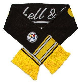 NFL Mitchell & Ness Pittsburgh Steelers Black Gold Vintage NFL Scarf  Sports Fan Outerwear Jackets  Sports & Outdoors