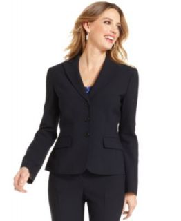 Anne Klein Navy Tropical Wool Blend Suit Separates Collection   Suits & Suit Separates   Women