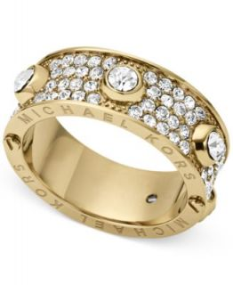 Michael Kors Gold Tone Crystal Pave Dome Ring   Fashion Jewelry   Jewelry & Watches