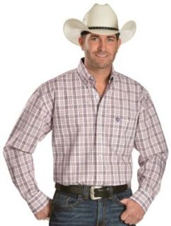Wrangler George Strait Men's Plaid Long Sleeve Shirt Big And Tall White Large Tall at  Men�s Clothing store