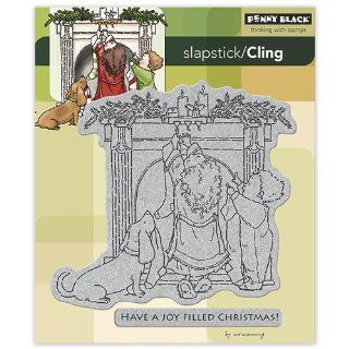 Penny Black 40 172 Joy Filled Christmas Cling Rubber Stamp