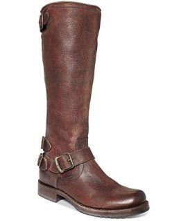 Frye Womens Veronica Back Zip Tall Boots   Shoes
