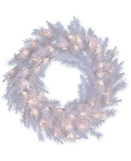 Kurt Adler 30 Pre Lit Crystal White Wreath   Holiday Lane