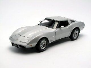 Chevrolet Corvette 25th Anniversary '78 (Silver) (Diecast model) Toys & Games