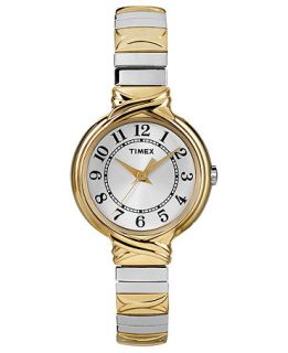 Timex Watch, Womens Two Tone Stainless Steel Expansion Bracelet 26mm T2N979UM   Watches   Jewelry & Watches