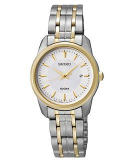 Seiko Watch, Womens Two Tone Stainless Steel Bracelet 28mm SXDE68   Watches   Jewelry & Watches