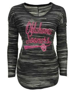 Blue 84 Womens Long Sleeve Oklahoma Sooners Trouble Burnout Striped Top   Sports Fan Shop By Lids   Men