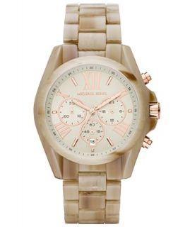Michael Kors Womens Chronograph Bradshaw Sand Acetate Bracelet Watch 43mm MK5840   Watches   Jewelry & Watches