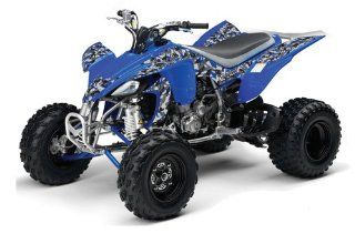 AMR Racing 2004 2008 Yamaha YFZ 450 ATV Quad, Graphic Kit   Urban Camo Blue Automotive