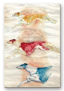 Metal Modern Abstract Dog 23.5h x 16w Painting Wall Art Sculpture Borzoi Flight