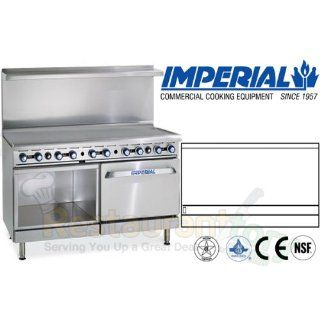 "Imperial Commercial Restaurant Range 60"" Griddle W/ Convection Oven/Cabinet Natural Gas Ir G60 Xb"
