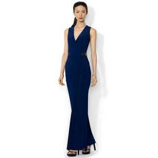 Lauren Ralph Lauren Sleeveless Beaded Jersey Gown   Dresses   Women