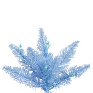 Sky Blue Slim Fir Artificial Christmas Tree with 400 Mini Lights