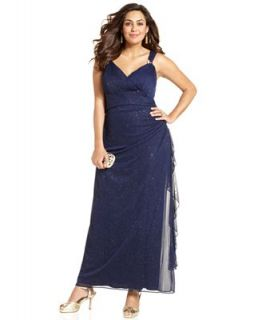 Betsy & Adam Plus Size Dress, Sleeveless Shimmer Gown   Dresses   Plus Sizes
