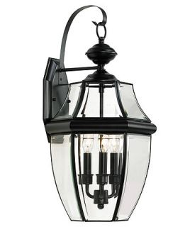 Sea Gull Outdoor Lighting, Three Light Lancaster Wall Lantern   Lighting & Lamps   For The Home