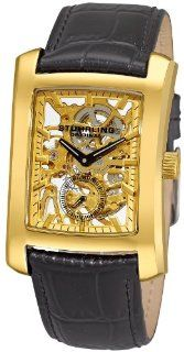 Stuhrling Original Men's 144C2.333531 Classic Gatsby Skeleton Mechanical Leather Watch at  Men's Watch store.