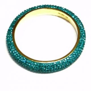 Crystal Bangle   Gold Plated with Turquois Crystal
