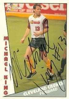 Michael King autographed Soccer trading Card (MISL Soccer) 1992 Pacific #136 Sports Collectibles