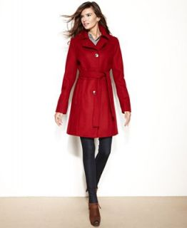 Kenneth Cole Reaction Petite Coat, Wool Blend Belted Walker   Coats   Women