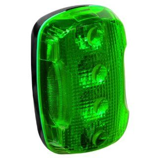 "FoxFire 6001659 Personal Safety Weather Resistant Light, 4 LEDs, 2 115/128"" Length x 1 51/64"" Width x 1 5/32"" Thick, Green Industrial Warning Lights"