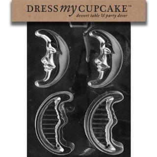 Dress My Cupcake Chocolate Candy Mold, Crescent Moon P/B, Set of 6 Kitchen & Dining