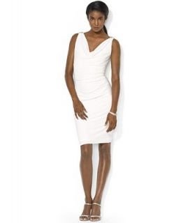 Lauren Ralph Lauren Sleeveless Embellished Cowl Neck Dress   Dresses   Women