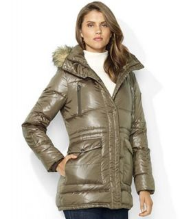 Lauren Ralph Lauren Hooded Faux Fur Trim Quilted Puffer Coat   Coats   Women
