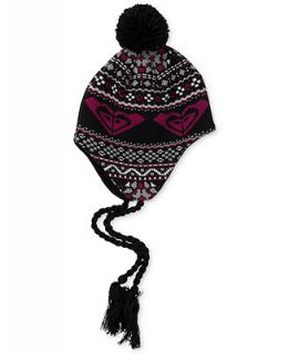 Roxy Kids Hat, Girls Fair Isle Pom Pom Hat   Kids