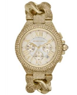 Michael Kors Womens Chronograph Runway Twist Gold Ion Plated Stainless Steel Bracelet Watch 38mm MK3131   Watches   Jewelry & Watches