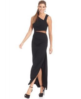 Adrianna Papell Dress, Sleeveless Mesh Cutout Gown   Dresses   Women
