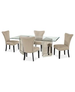 Sophia Dining Room Furniture, 5 Piece Set (76 Table and 4 Side Chairs)   Furniture