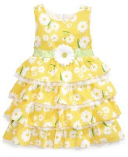 Nannette Little Girls Swiss Dot Floral Dress   Kids