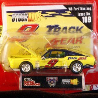 Racing Champions   Stock Rods Series   3.25 inch Replica   NASCAR 50th Anniversary Limited Edition   Jeff Burton #9   1968 Ford Mustang   Track Gear   Issue #109 Toys & Games