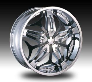 "22"" VELOCITY VW815 5X114.3/120 CHROME WHEEL RIMS WITH LEXANI TIRES 255/30/22 Automotive"