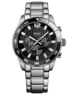 Hugo Boss Watch, Mens Chrongraph Origin Stainless Steel Bracelet 46mm 1512928   Watches   Jewelry & Watches