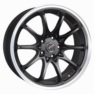 "Styluz M637 Satin Black with Machine Lip Wheel (18x8""/ 5x108mm) Automotive"