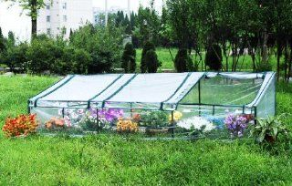 "Green Garden Mini Hot House 107""WX 36""D X 28""HGreenhouse  GH003  Greenhouse Cold Frames  Patio, Lawn & Garden"