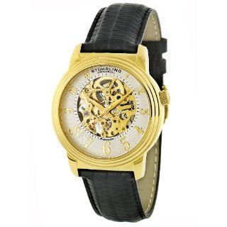 Stuhrling Original Men's 107.33352 Classic 'Delphi' Gold Tone Skeleton Watch at  Men's Watch store.