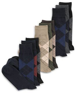 Polo Ralph Lauren Mens Socks, Extended Size Argyle Dress Mens Socks 3 Pack   Underwear   Men
