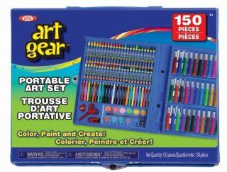 POOF Slinky 80001BL Ideal Art Gear Set with Sketching and Painting Tools in a Portable Organizer Case, 150 Piece Toys & Games