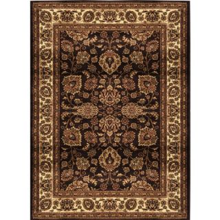 Home Dynamix Marquis Polypropylene Area Rug, Brown/Ivory Decor