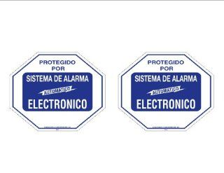 Security Decal #102S Spanish 2 Commercial Grade Burglar ALARM System Deterrence Warning Decals #102 Spanish Other Products