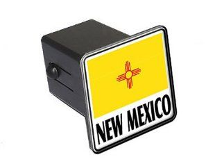 "New Mexico   Flag   2"" Tow Trailer Hitch Cover Plug Insert Automotive"