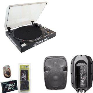 Pyle Turntable Record Player, Pre Amplifier, RCA Cable and Speaker Package   PLTTB3U Belt Drive USB Turntable with Digital Recording Software   PP999 Phono Turntable Pre Amplifier   PPHP885A 400 Watts 8'' Powered 2 Way Plastic Molded Speaker System