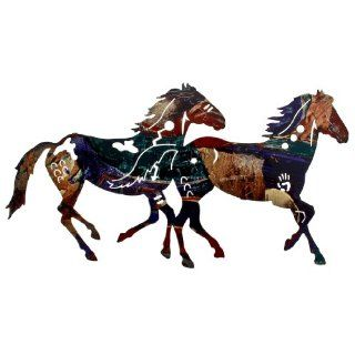 "24"" Painted Pony Duo Wall Art / Horse Metal Wall D�cor   Wall Sculptures"