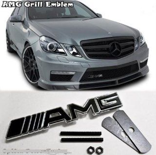 MERCEDES BENZ AMG 3D Metal Emblem Auto Front Grill Grille Automotive