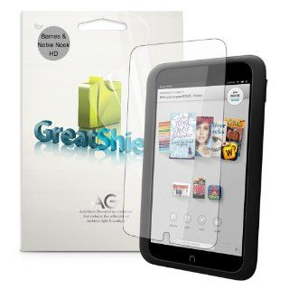 "GreatShield Ultra Anti Glare (Matte) Clear Screen Protector Film for Barnes & Noble NOOK HD 7"" Tablet (3 Pack) Computers & Accessories"